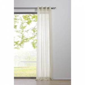 My Deco Pure Eyelet Sheer Thermal Curtain My Deco Colour: Ecru  - Ecru - Size: 245cm H X 135cm B