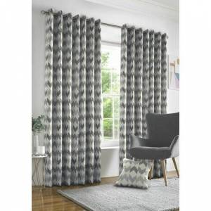 Zipcode Design Judy Eyelet Room Darkening Curtains Zipcode Design Colour: Silver Grey, Size: 228 W x 228 D cm  - Silver Grey - Size: 228 W x 228 D cm