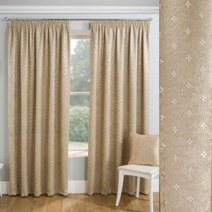 Rosalind Wheeler Feickert Block Out Ready Made Room Darkening Thermal Curtains Rosalind Wheeler Panel Size: Width 229 W x Drop 229cm, Colour: Natural  - Natural - Size: Width 229 W x Drop 229cm