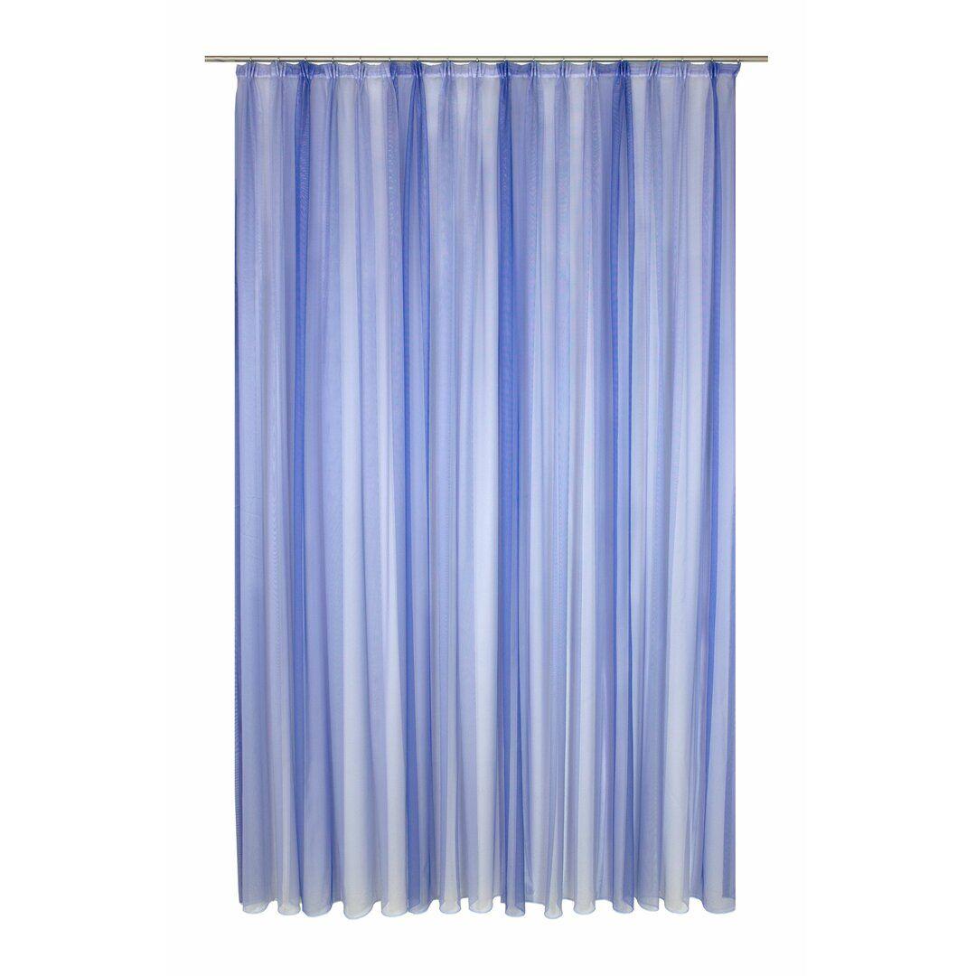 Brayden Studio Kobbe Pencil Pleat Semi Sheer Curtain  - Size: 198.1 H x 68.6 W cm