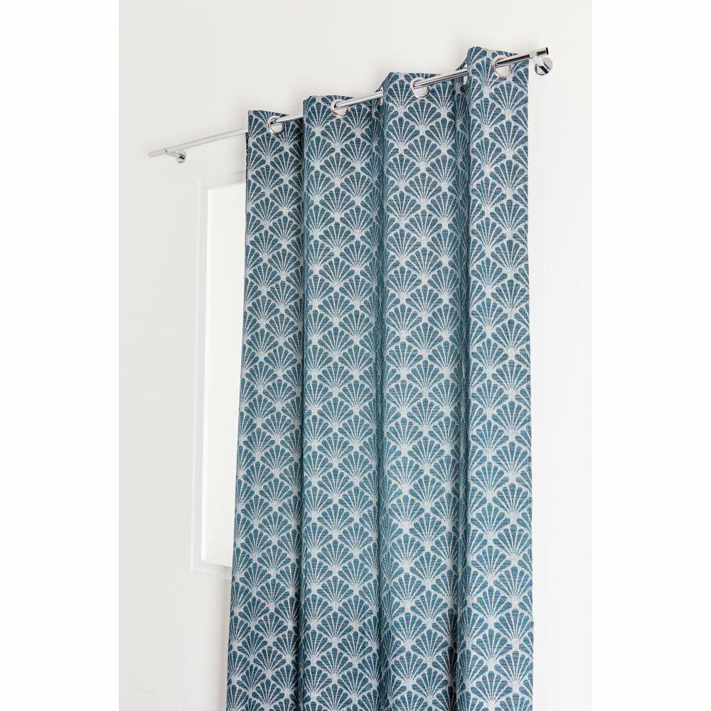 Brayden Studio Perao Eyelet Blackout Curtain  - Size: 198.1 H x 68.6 W cm