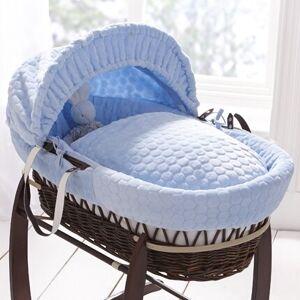 Clair De Lune Marshmallow Moses Basket Clair De Lune Colour: Blue  - Blue - Size: 84cm H X 52cm W X 25cm D