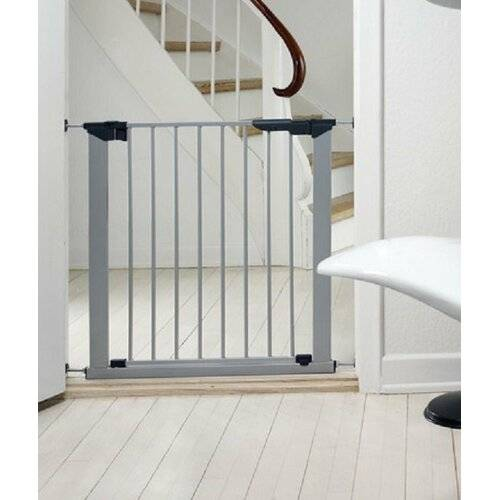 Symple Stuff No Screw Stair Safety Gate Symple Stuff Colour: Silver, Size: 112cm H - 119.3cm W  - Silver - Size: 112cm H - 119.3cm W