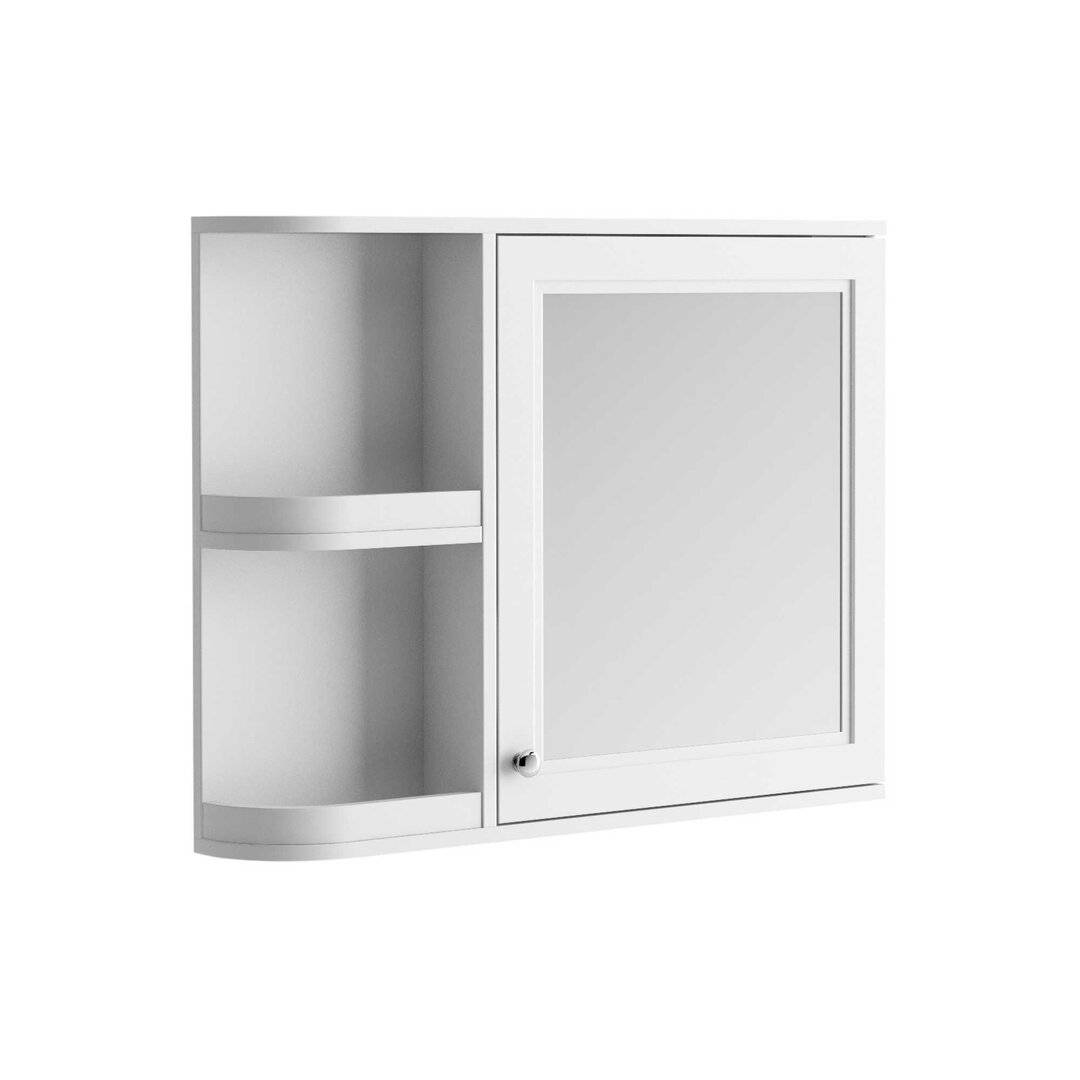 Three Posts Bataan 88cm x 70cm Surface Mount Mirror Cabinet  - Size: 182.88 H x 63.5 W x 45.72 D cm
