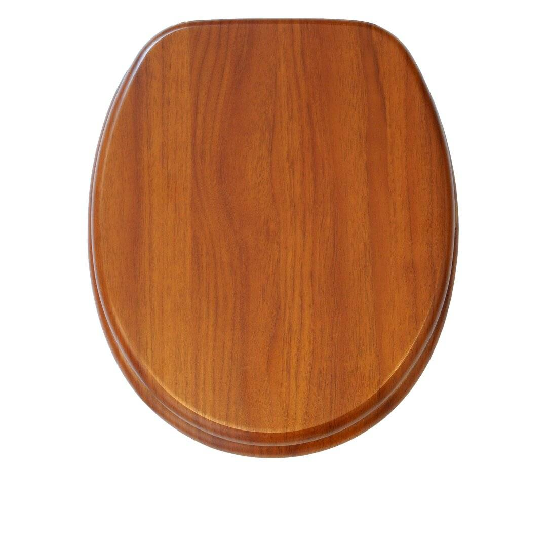 Brayden Studio Mahogany Elongated Toilet Seat  - Size: 198.1 H x 76.2 W cm