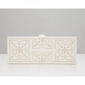 WOLF Marrakesh Jewellery Pouch WOLF Colour: Cream  - Cream - Size: 4cm H X 28cm W X 11cm D