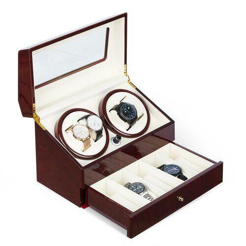Klarstein Geneva Watch Box Klarstein  - Brown/Black/Dark Wood - Size: 22cm H X 32cm B X 18cm T