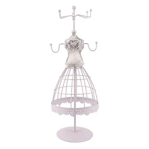 Lily Manor Jewellery Stand (Set of 2) Lily Manor Colour: Beige  - Beige - Size: 34cm H X 12cm B X 12cm T