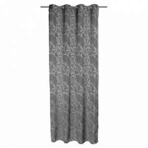 ClassicLiving Bellefontaine Deko Eyelet Room Darkening Single Curtain ClassicLiving Colour: Grey  - Size: 245cm H X 140cm B