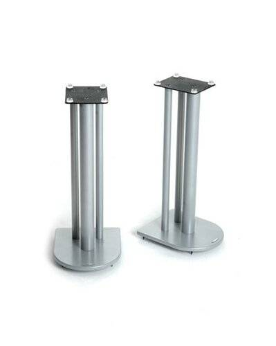 Symple Stuff 60cm Fixed Height Speaker Stand Symple Stuff Colour: Silver  - Silver - Size: 60cm H X 25cm W X 30cm D