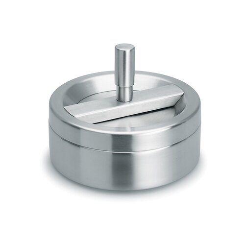 Blomus Easy Rotate Ashtray Blomus  - Silver - Size: 7cm H X 12cm W X 12cm D