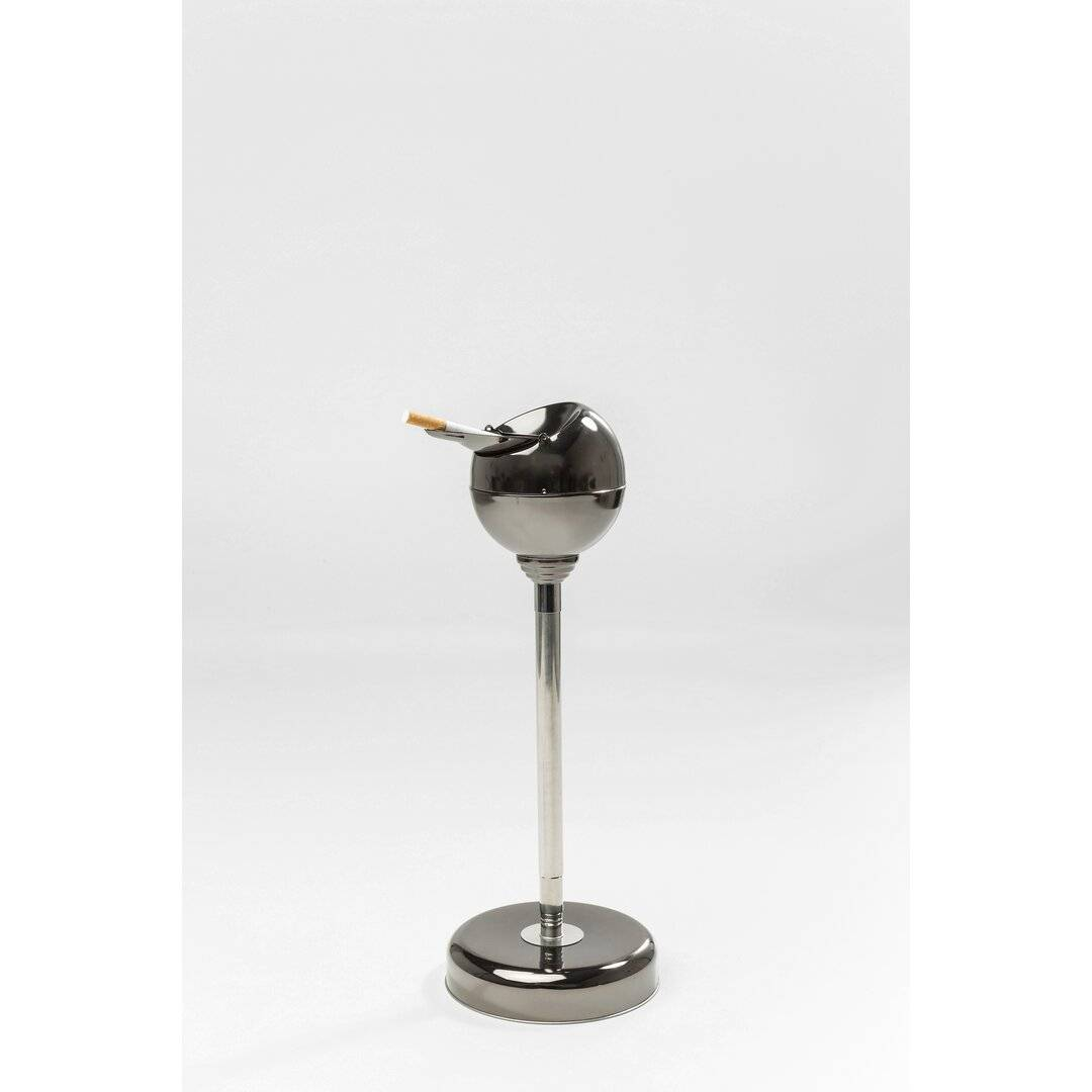 KARE Design Gunmetal Ashtray and Rubbish Bin - Size: 72.0 H x 13.0 W x 13.0 D cm