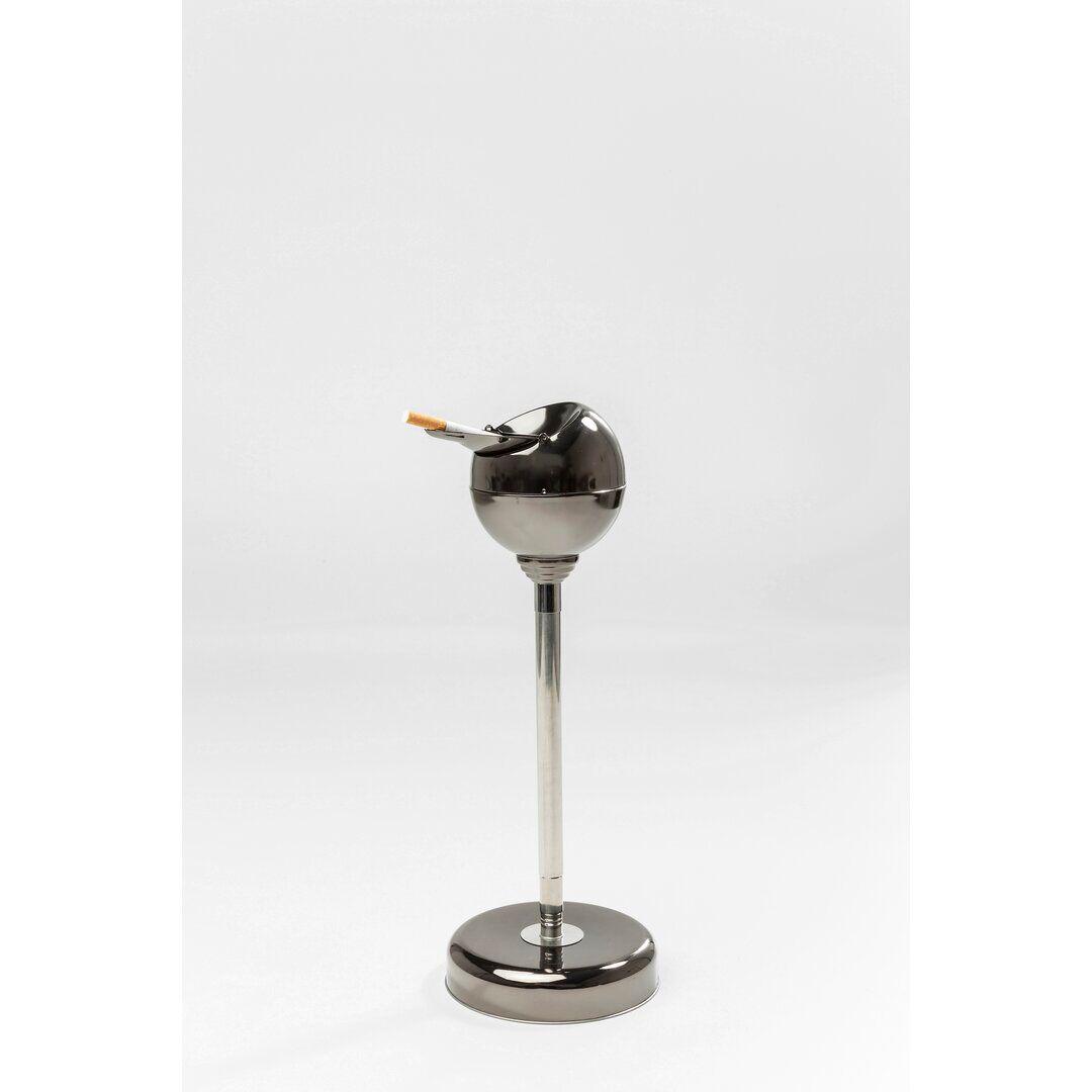KARE Design Gunmetal Ashtray and Rubbish Bin  - Size: 126.0 H x 93.0 W x 1.0 D cm