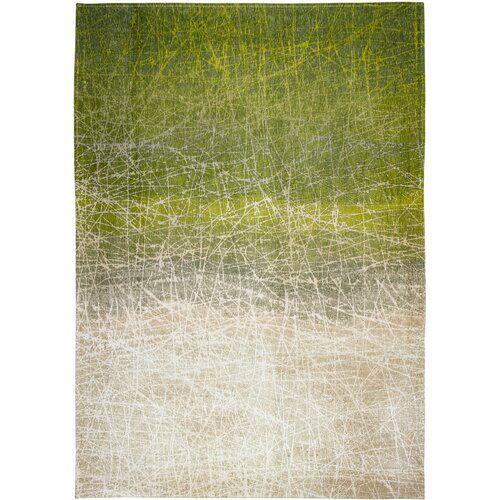 Louis de Poortere Mad Men Fahrenheit Abstract Flatweave Green Rug Louis de Poortere Rug Size: Rectangle  80 x 150cm  - Size: Rectangle  200 x 280cm