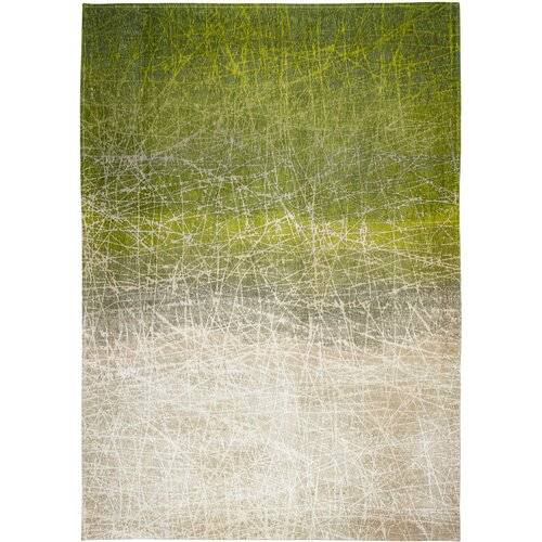 Louis de Poortere Mad Men Fahrenheit Abstract Flatweave Green Rug Louis de Poortere Rug Size: Rectangle  200 x 280cm  - Size: Rectangle  140 x 200cm