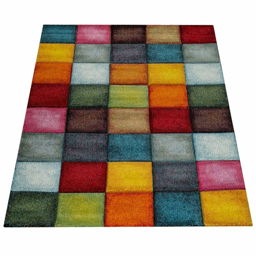 17 Stories Hackley Shag Yellow Rug  - Size: 50.0 H x 70.0 W x 0.06 D cm