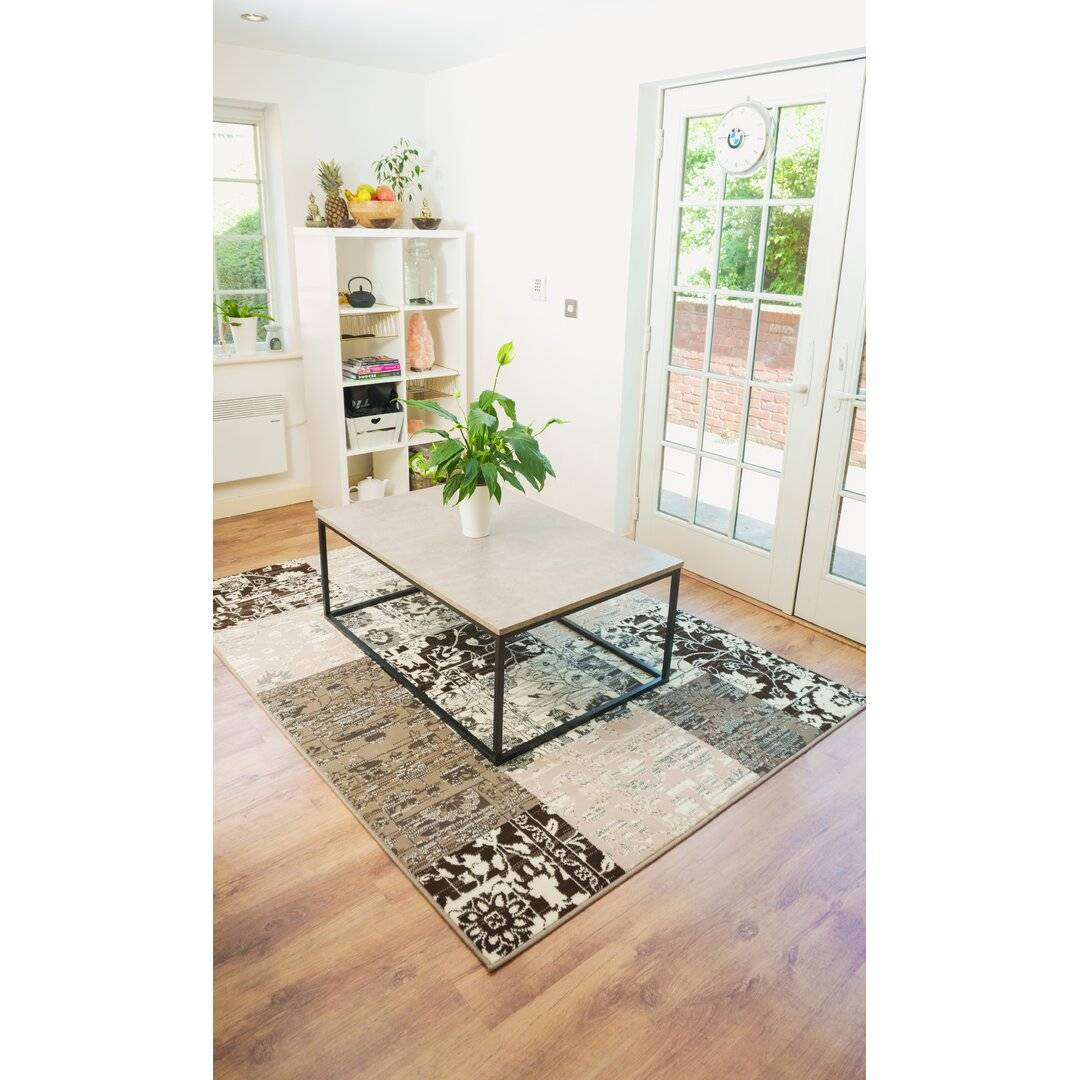 Marlow Home Co. Wahkon Hooked Grey Rug - Size: 365.0 H x 280.0 W x 0.8 D cm