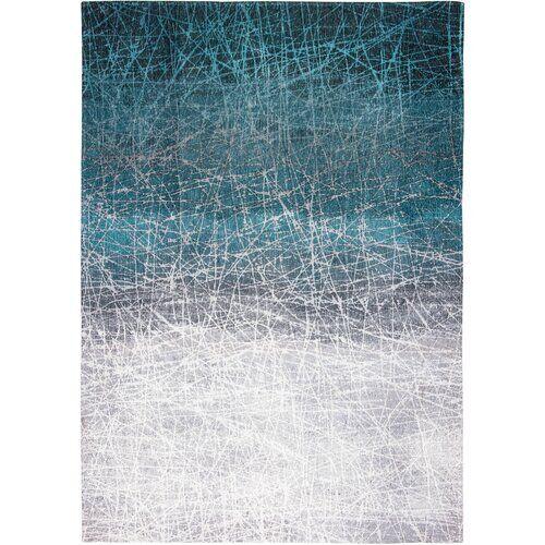 Louis de Poortere Mad Men Fahrenheit Polar Vortex Flatweave Blue Rug Louis de Poortere Rug Size: Rectangle  140 x 200cm  - Size: Rectangle 280 x 360cm