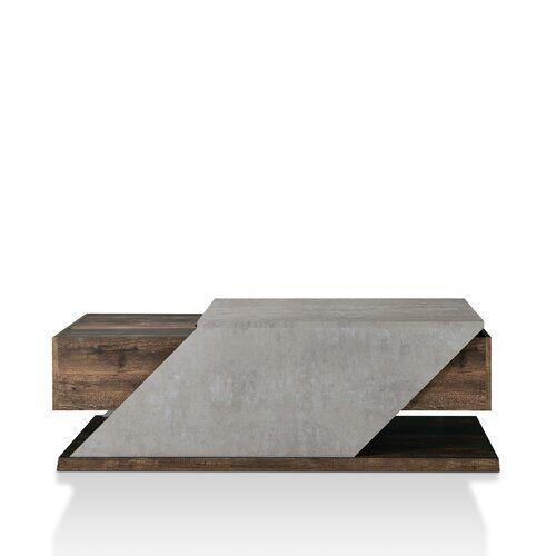 Ebern Designs Encore Coffee Table with Storage Ebern Designs Colour: Reclaimed Oak  - Reclaimed Oak