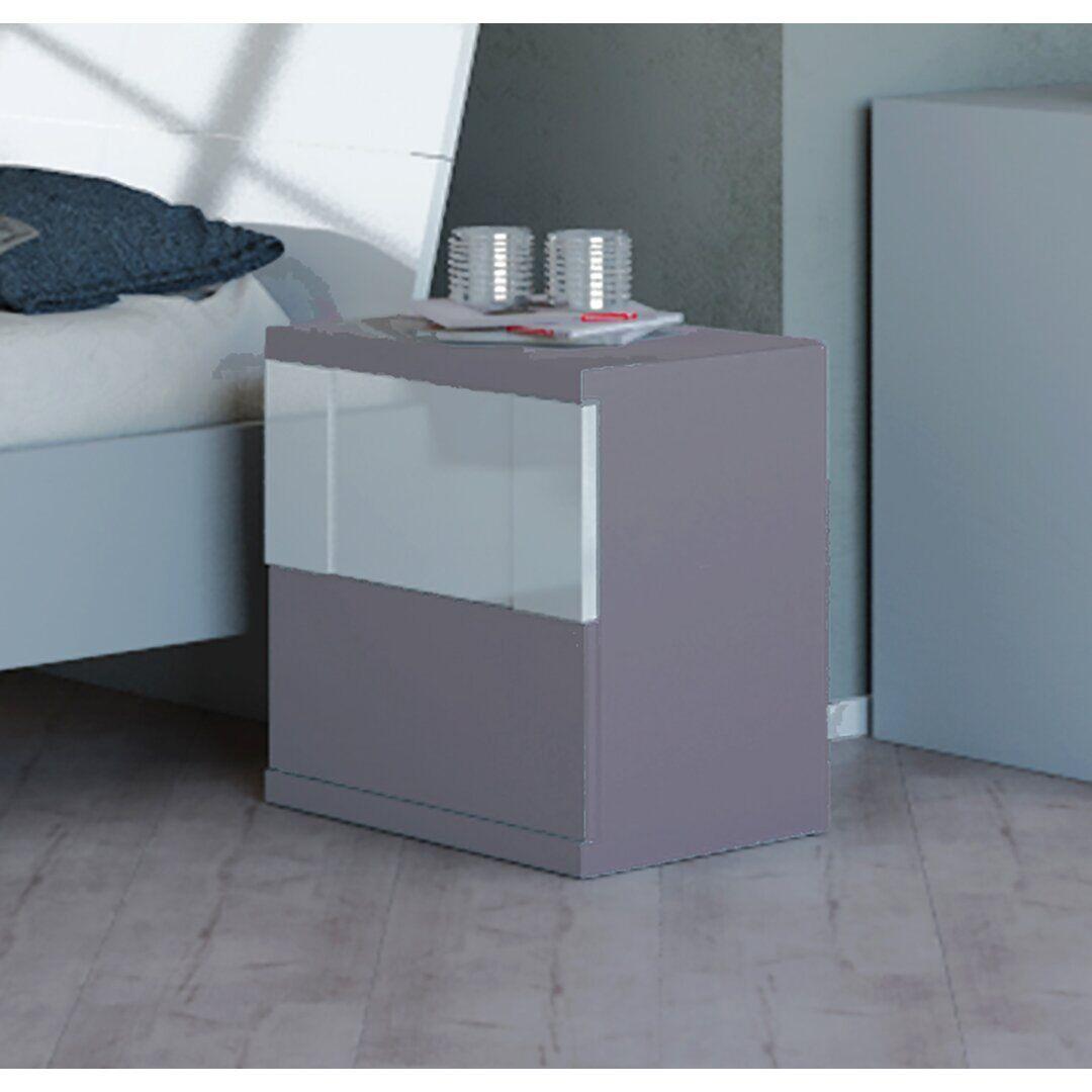 Brayden Studio Columbia 2 Drawer Bedside Table  - Size: 198.12 W x 220.98 D cm