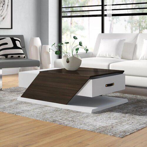 Ebern Designs Encore Coffee Table with Storage Ebern Designs Colour: White  - White