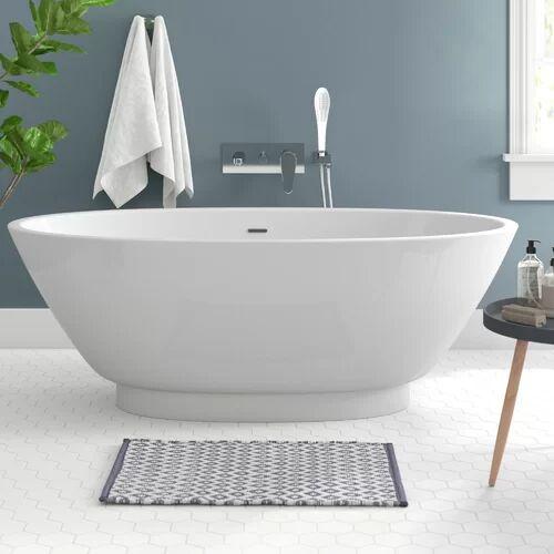 Belfry Bathroom 1700 mm x 790 mm Freestanding Double Ended Bathtub Belfry Bathroom  - White - Size: 170cm H X 79cm W X 60cm D