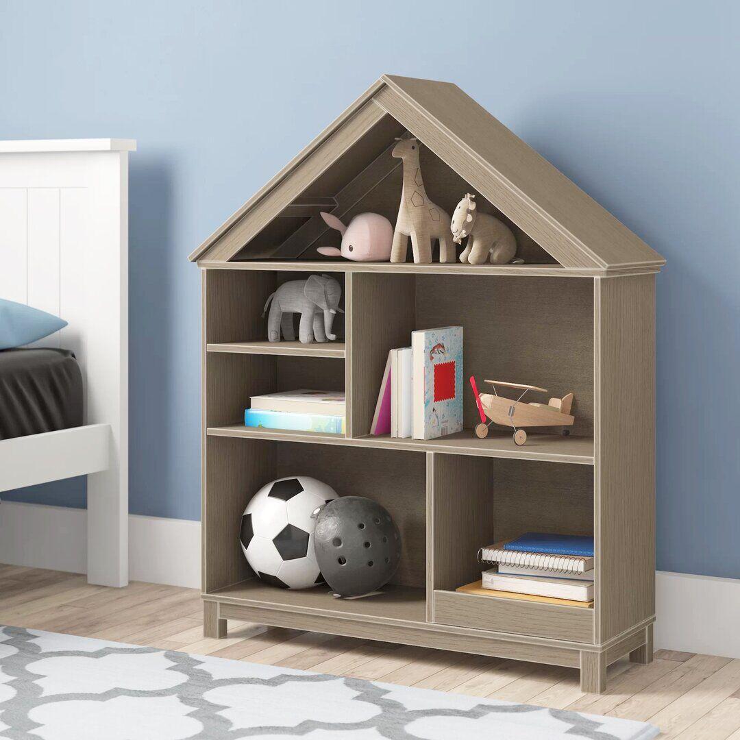 Brayden Studio Kronqui Bookcase  - Size: 198.1 H x 68.6 W cm