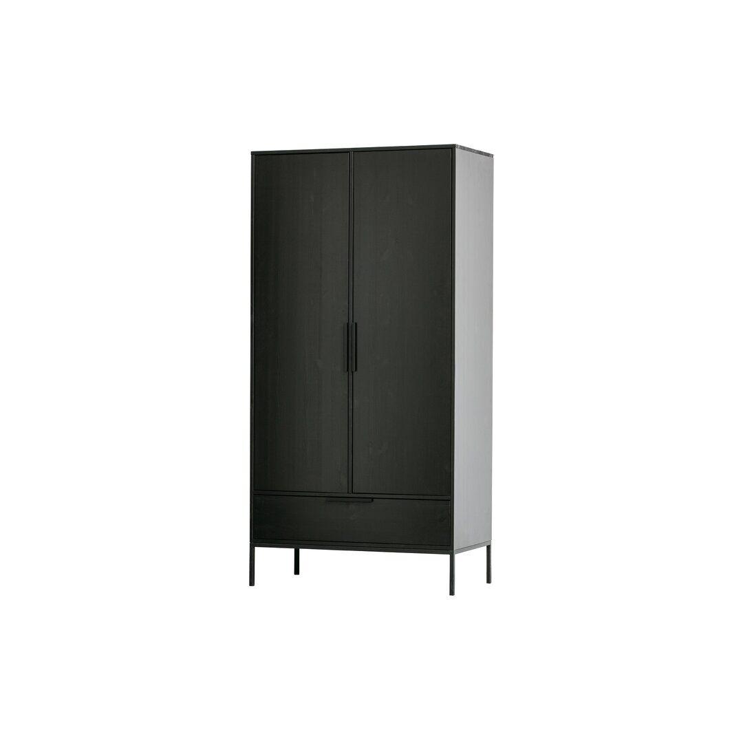 Brayden Studio Tewksbury 2 Door Wardrobe  - Size: 198.1 H x 83.8 W cm