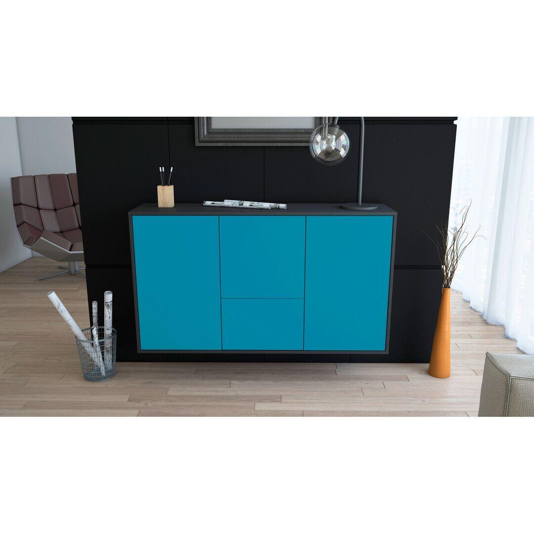 Brayden Studio Will Sideboard  - Size: 198.0 H x 55.0 W x 40.0 D cm
