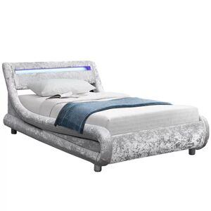 Ebern Designs Barcelona Upholstered Bed Frame Ebern Designs Colour: Black, Size: Single (3'), Mattress Type: 15cm Budget Spring  - Black - Size: Single (3')