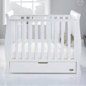 Obaby Stamford Space Saver Cot Obaby Colour: White  - White