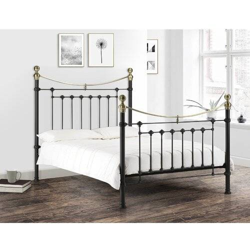 Marlow Home Co. Tala Bed Frame with Mattress Marlow Home Co.  - Size: 146cm H X 151cm W X 207cm D