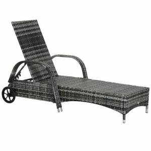 Sol 72 Outdoor Nantan Reclining Sun Lounger with Cushion Sol 72 Outdoor  - Size: 103cm H X 73cm W X 200cm D