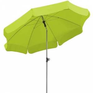 Schneider Schirme Locarno Beach Parasol Schneider Schirme Colour (Fabric): Green, Size: 220cm H x 200cm W x 200cm D  - Green - Size: 220cm H x 200cm W x 200cm D