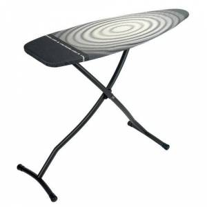 Brabantia Freestanding Ironing Board with Heat Resistant Iron Brabantia Colour: Black/Grey/White  - Black/Grey/White - Size: 101cm H X 184cm W X 49cm D