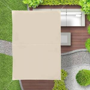 Sol 72 Outdoor Hamblen 300 x 200cm Rectangular Shade Sail Sol 72 Outdoor Colour: Beige  - Beige - Size: 2cm W X 3cm D