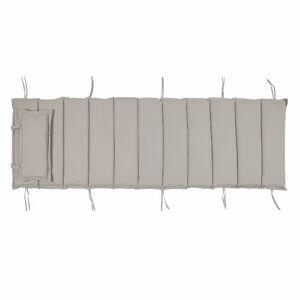 17 Stories Arbaaz Garden Seat/Back Cushion 17 Stories Colour: Taupe  - Taupe - Size: 5cm H X 56cm W X 192cm D