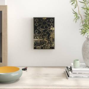 East Urban Home 'The Star Tarot' Graphic Art on Canvas - Size: 38.1 H x 25.4 W x 3.8 D cm