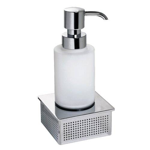 Sonia Dynamic Soap Dispenser Sonia  - Chrome/White - Size: 15cm H X 7cm W X 8cm D
