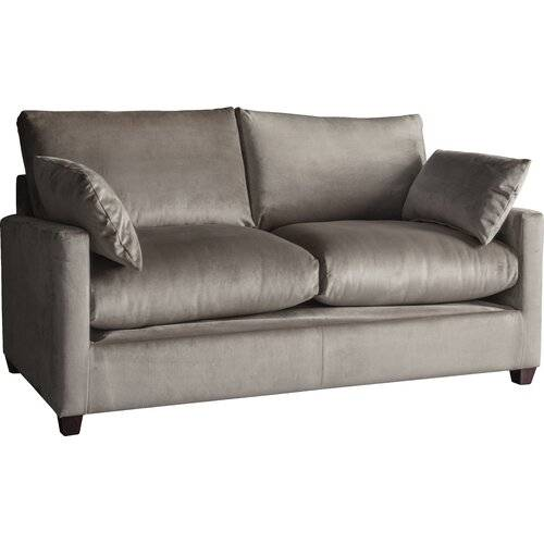 Marlow Home Co. Chevalier 2 Seater Fold Out Sofa Bed Marlow Home Co. Upholstery Colour: Light Grey, Leg Type: Standard, Mattress Type: Standard  - Light Grey - Size: 90cm H X 150cm W X 90cm D