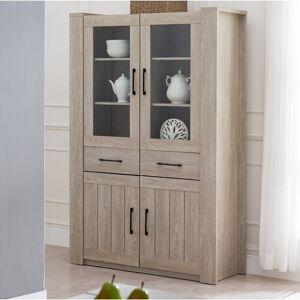 Natur Pur Archibald Standard Display Cabinet Natur Pur  - Size: 185cm H X 44cm W X 120cm D