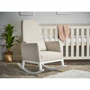 Obaby High Back Rocking Chair Obaby Colour: Oatmeal  - Oatmeal - Size: Small