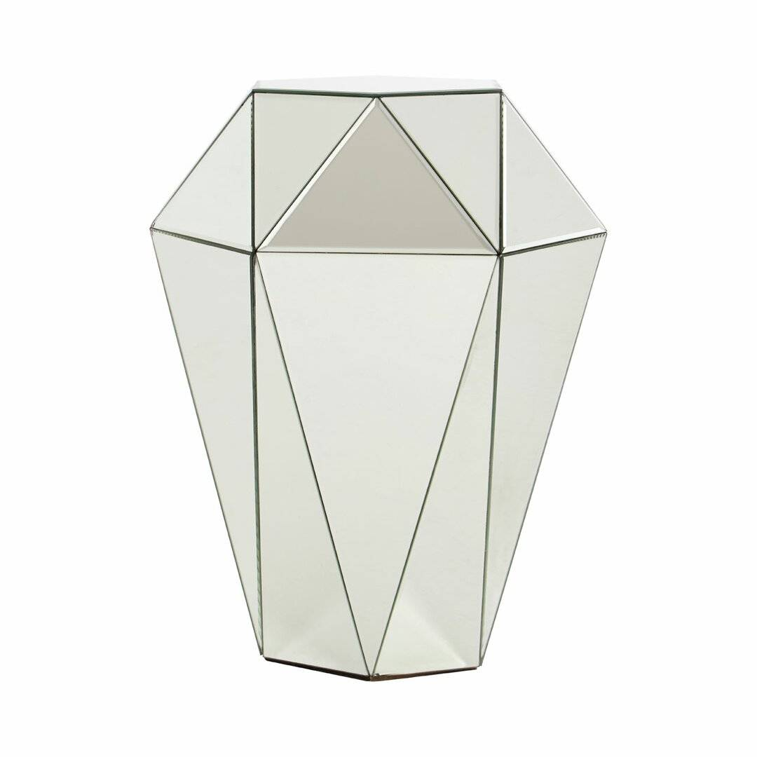 Canora Grey Street Side Table  - Size: 106.0 H x 56.0 W x 67.0 D cm