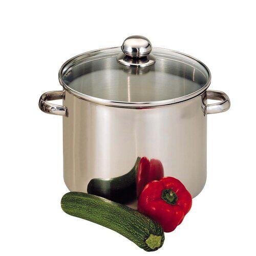 Symple Stuff Hackman Stock Pot with Lid Symple Stuff Size: 24 cm  - Size: 72cm H X 120cm W X 48cm D