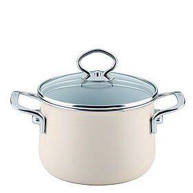 Riess Kelomat Avorio Stock Pot Riess Kelomat Size: 18 cm H x 18 cm W x 25.5 cm D  - Size: 16cm -22cm W X 16cm -22cm D