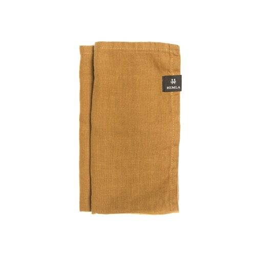 Himla Sunshine Linen Napkin Himla Colour: Amber 85cm H x 85cm W x 0.5cm D