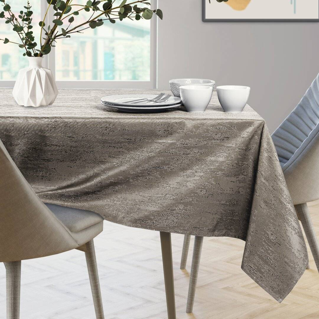 Brayden Studio Avienda Lotus Effect Tablecloth  - Size: 198.0 W x 198.0 D cm