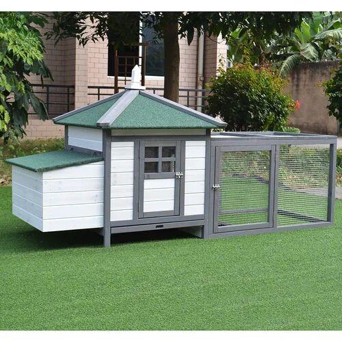 Archie & Oscar Holsworthy Chicken Coop with Chicken Run Archie & Oscar  - Size: Rectangle 120 x 170cm
