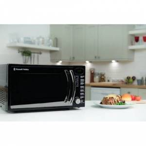 Russell Hobbs 17 L 700W Countertop Microwave Russell Hobbs Colour: Black  - Black - Size: 27cm H X 46cm W X 36cm D