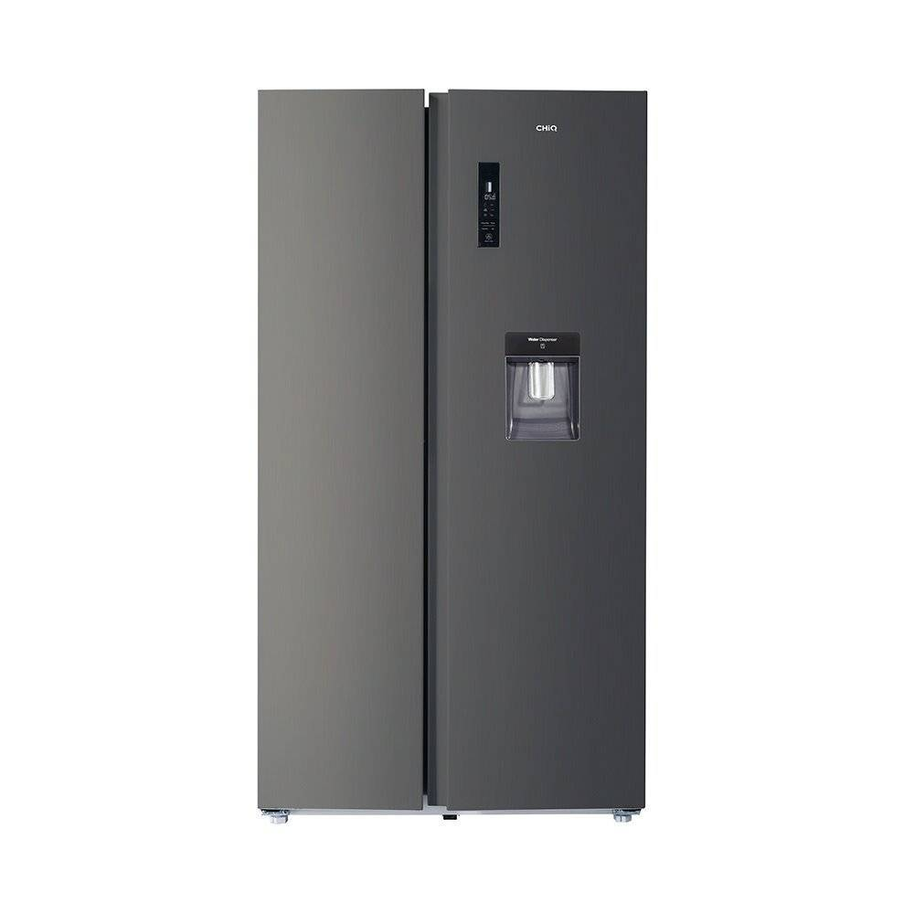 CHiQ 559 L Side-by-Side Fridge with Water Dispenser  - Size: 60.0 H x 70.0 W x 70.0 D cm